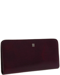 Dark Purple Leather Clutch