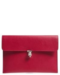 Calfskin clutch purple medium 5169279