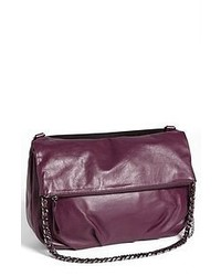 Dark Purple Leather Crossbody Bag