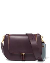 Anya Hindmarch Vere Leather Shoulder Bag Plum