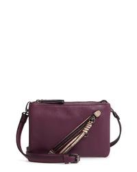 Sondra Roberts Eastwest Faux Leather Crossbody Bag