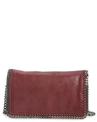 Stella McCartney Falabella Shaggy Deer Faux Leather Crossbody Bag Purple
