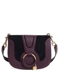 See by Chloe Hana Small Leather Crossbody Bag Purple
