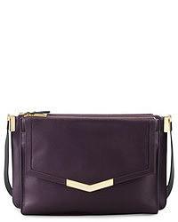 Trilogy Times Arrow Leather Crossbody Bag Purple