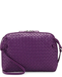 Bottega Veneta Veneta Messenger Bag Purple