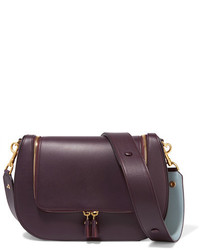 Anya Hindmarch Vere Leather Shoulder Bag Plum