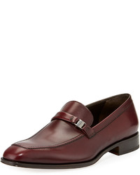 Salvatore Ferragamo Slip On Smooth Leather Driver Purple