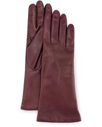 Dark Purple Leather Gloves