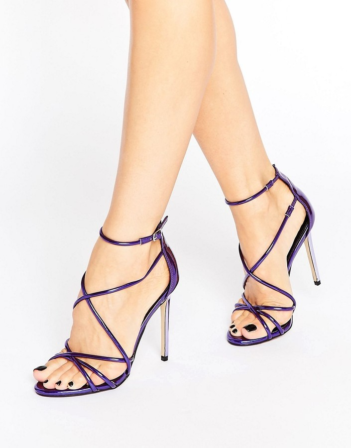 Office Spindle Purple Mirror Strappy