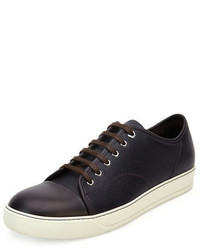 Lanvin Grainy Leather Low Top Sneaker