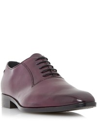 Dark Purple Leather Oxford Shoes
