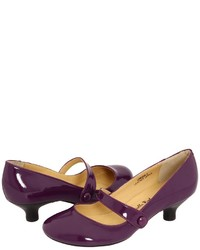Dark Purple Leather Pumps
