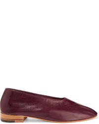 Martiniano Glove Leather Pumps Burgundy