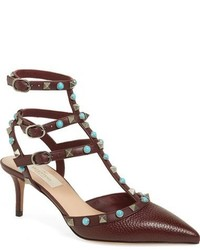 Valentino Rockstud Rolling Pointy Toe Pump