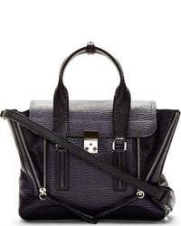 Purple textured leather pashli medium satchel medium 110781