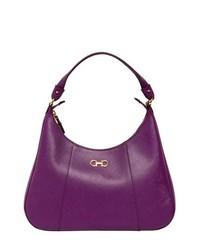 Salvatore Ferragamo Petunia Saffiano Leather Shoulder Bag