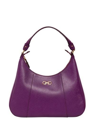 44fdc27be5 ... Purple Leather Satchel Bags Salvatore Ferragamo Petunia Saffiano  Leather Shoulder Bag ...