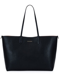 Alexander McQueen Lino Medium Embossed Leather Tote Bag