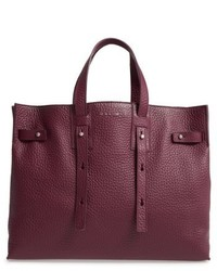 Orciani Petra Soft Calfskin Leather Tote Purple