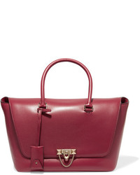 Valentino The Rockstud Leather Tote Burgundy