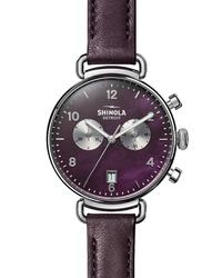 Shinola The Canfield Chrono Leather Watch