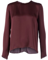 Dark purple long sleeve blouse original 10024148