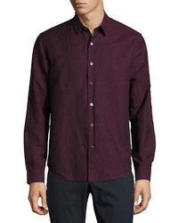 Dark Purple Long Sleeve Shirt