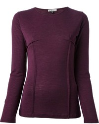 Dark purple long sleeve t shirt original 8526687