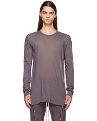 Rick Owens Purple Basic Long Sleeve T Shirt