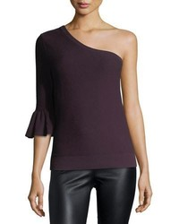 Rebecca Minkoff Wappo Cashmere Cotton One Shoulder Top
