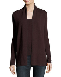Neiman Marcus Cashmere Collection Classic Draped Cashmere Cardigan Plus Size