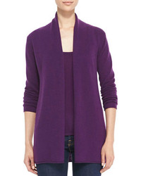 Neiman Marcus Cashmere Collection Draped Open Front Cashmere Cardigan