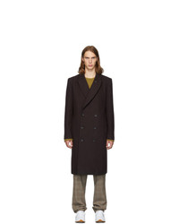 Tibi Purple Wool Double Breasted Coat
