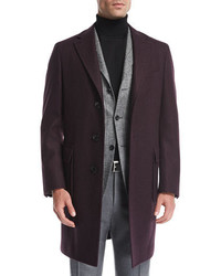 Canali Wool Single Breasted Top Coat