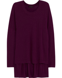Dark Purple Oversized Sweater