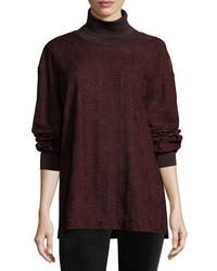 Metallic jersey turtleneck sweater medium 4353742