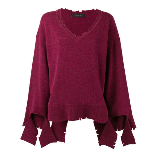 31de5e31a7 ... Federica Tosi V Neck Loose Knit Sweater ...