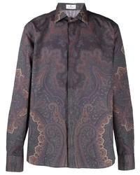 Etro Paisley Print Satin Shirt