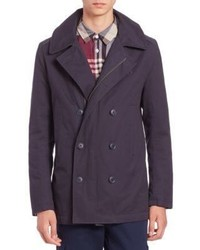 Lacoste Cotton Hooded Peacoat