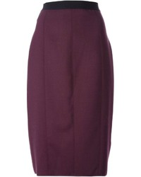 Forte Forte Contrasting Waistband Panelled Pencil Skirt
