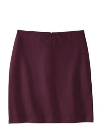 Mossimo Petites Ponte Pencil Skirt Purple Lp