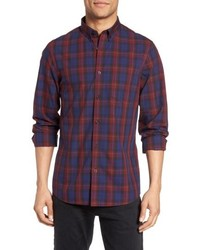 Nordstrom Shop Slim Fit Plaid Sport Shirt