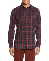 Vince Trim Fit Plaid Sport Shirt