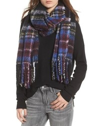 Dark Purple Plaid Scarf