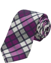 Ike Behar 3 38 Plaid Silk Tie