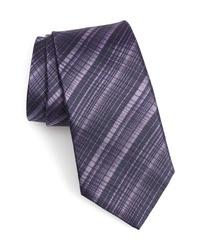 John Varvatos Star USA Cross Stripe Silk Tie