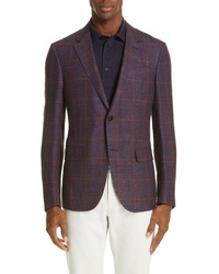 Ermenegildo Zegna Fit Plaid Wool Blend Sport Coat