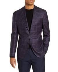 Ted Baker London Fit Plaid Wool Sport Coat