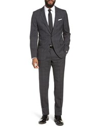 BOSS Novanben Trim Fit Plaid Wool Suit