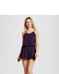 Gilligan O Fluid Knit Romper With Lace Gilligan Omalley Purple Bergamot